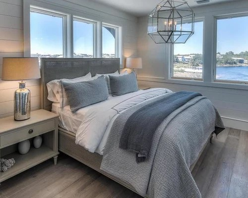 Maritimes Schlafzimmer Mid-sized Beach Style Bedroom Design Ideas, Remodels
