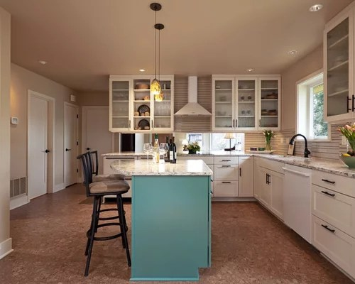 kitchen design ideas renovations photos beige splashback small eat kitchen design photos cork floors