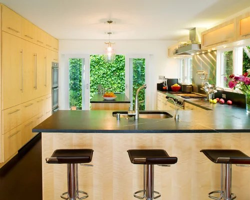 large contemporary shaped kitchen design ideas remodels photos small eat kitchen design photos cork floors