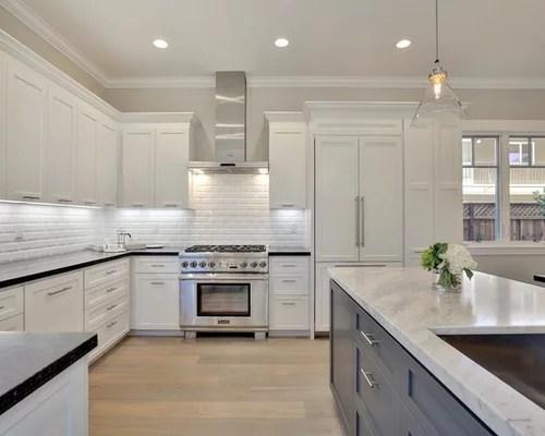 eat kitchen design ideas renovations photos light hardwood inspiration small transitional single wall eat kitchen