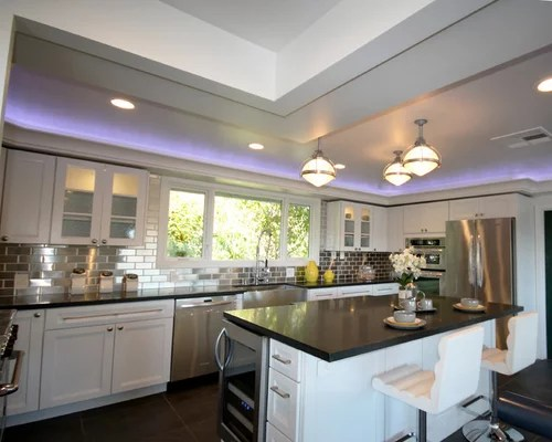 mid sized modern shaped eat kitchen kitchen cabinets recycled kitchen design ideas