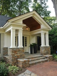 Stone-front Porch   Houzz