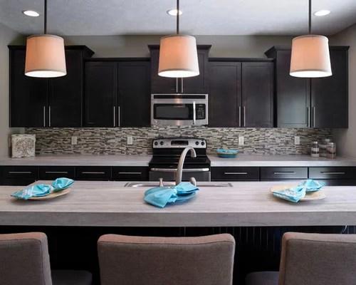 kitchen design ideas renovations photos dark wood cabinets inspiration small transitional single wall eat kitchen