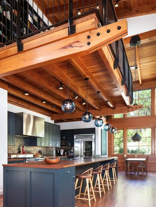 mountain style galley open concept kitchen design rustic kitchen design ideas remodel pictures houzz
