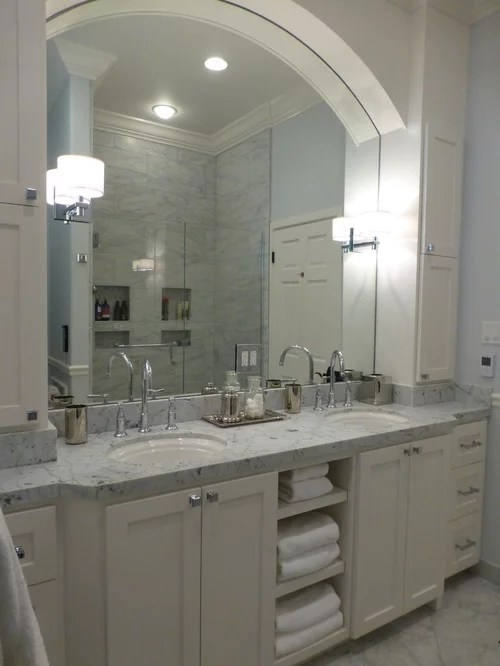 Undermount Bathroom Sink Carrera Marble Countertop | Houzz