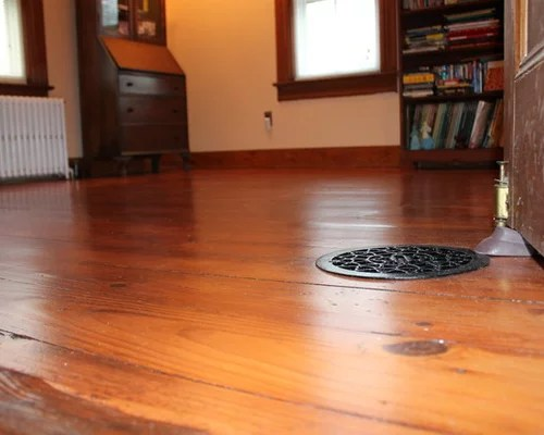 Wide Plank Pine Floor Refinishing