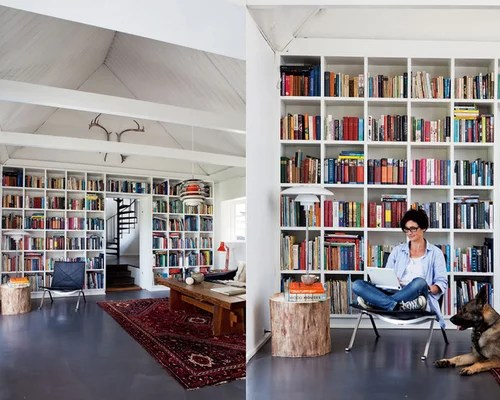 Home Library Design Ideas Houzz - home library ideas