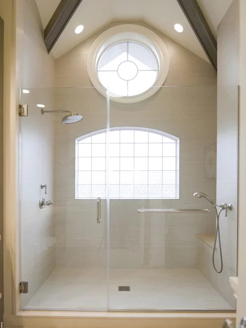 Houzz Home Office Rainshower Head Sloped Ceiling | Houzz