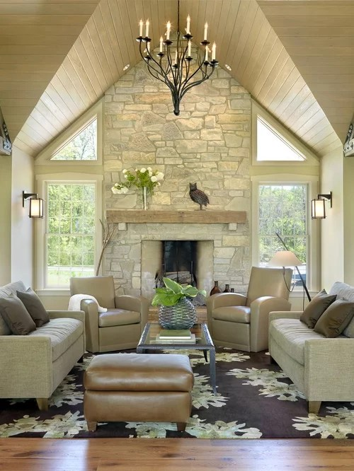 Chambre Steampunk Austin Stone Fireplace Ideas, Pictures, Remodel And Decor