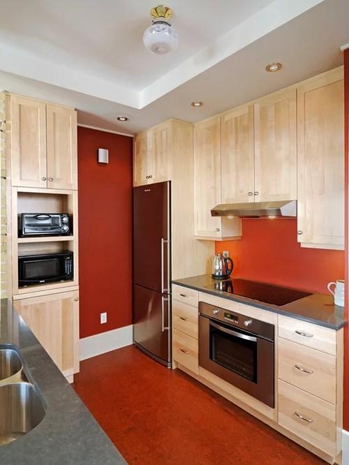 design ideas renovations photos red splashback cork floors small eat kitchen design photos cork floors