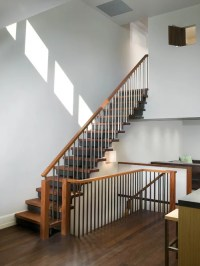 Wood Stairs Home Design Ideas, Pictures, Remodel and Decor