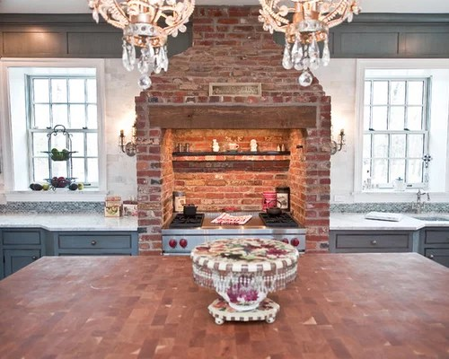 Wolf Range 48 Brick Stove Surround | Houzz