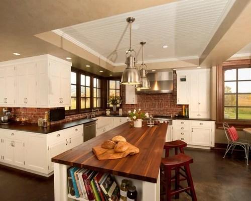robinson veneer brick backsplash home design ideas pictures remodel elegant brick backsplash kitchen presented soft colors