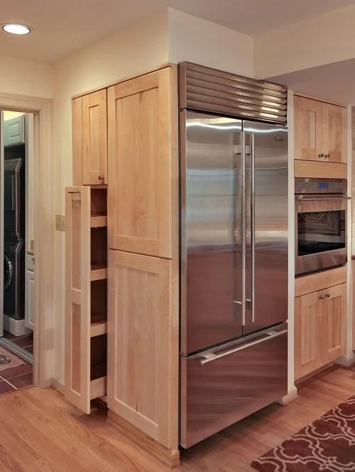 traditional kitchen design ideas renovations photos light wood small traditional galley eat kitchen design photos medium