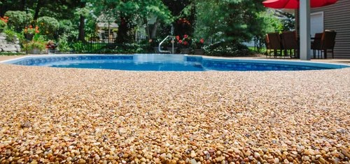 How To Overlay An Epoxy Coated Pebble Chattahoochee Pool
