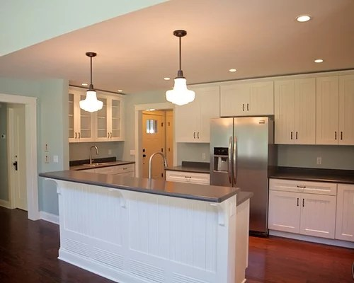 small home design ideas renovations photos inspiration small transitional shaped kitchen remodel