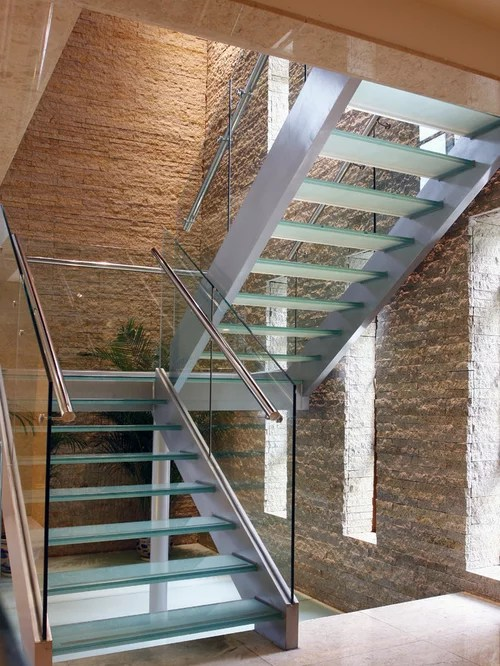 U Shaped Stairs Glass U-shaped Staircase Design Ideas, Renovations & Photos
