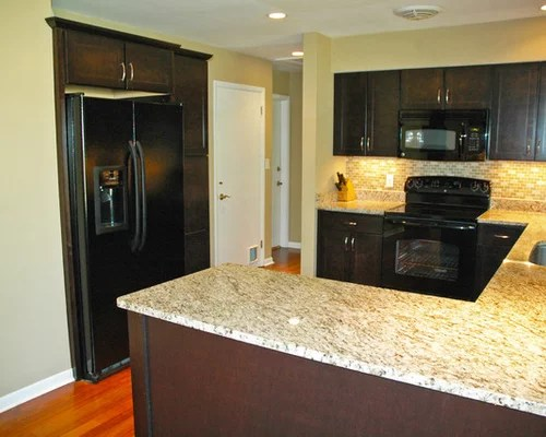 transitional small beach house kitchen design ideas remodels photos inspiration small transitional single wall eat kitchen