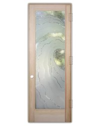 Sans Soucie Art Glass Interior Door With Sandblast Etched ...