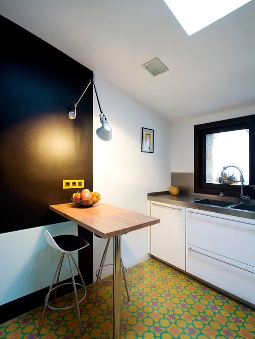small kitchen design ideas remodel pictures houzz inspiration small transitional single wall eat kitchen
