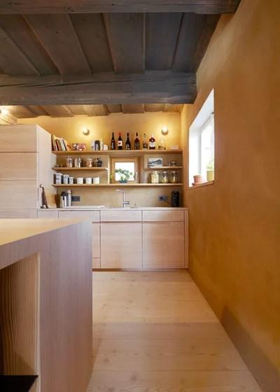 Eine bayerische Wohnküche aus Douglasienholz - danische massivholzmobel douglasie