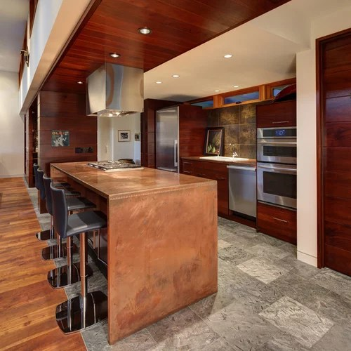 kitchen copper countertops slate floors design ideas kitchen cabinets recycled kitchen design ideas