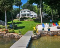 Backyard Lake Home Design Ideas, Pictures, Remodel and Decor