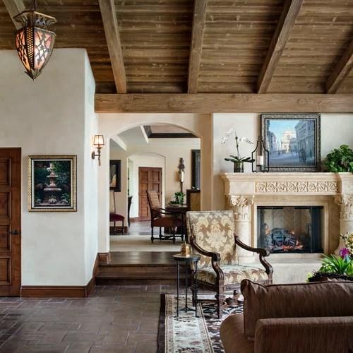 Spanish-style Living Room Houzz - houzz living room furniture