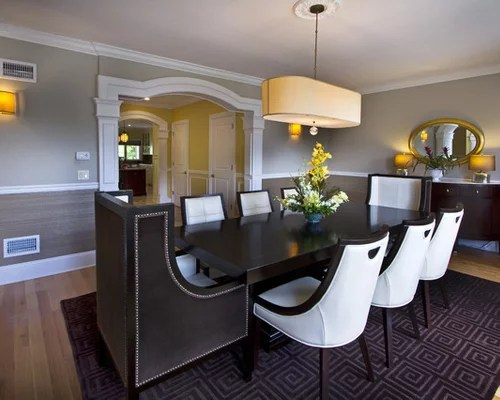 Dining Room Wallpaper With Chair Rail Chair Rail | Houzz