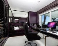 Home Office Design Ideas, Remodels & Photos with Purple Walls