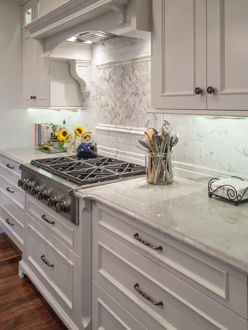 White Kitchen Cabinets And Green Backsplash Sea Pearl Quartzite Countertop Ideas, Pictures, Remodel
