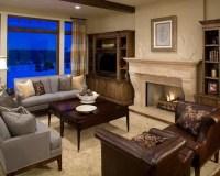 Grey Brown Living Room Home Design Ideas, Renovations & Photos