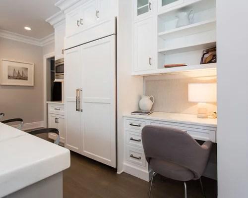 built kitchen desk home design ideas pictures remodel decor inspiration small transitional shaped kitchen remodel