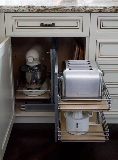Küchengeräte clever verstauen u2013 11 praktische Ideen für Mixer \ Co - moderne kuche praktische kuchengerate