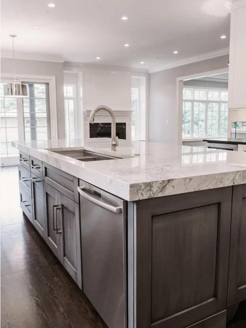 kitchen design ideas renovations photos farmhouse sink inspiration small transitional single wall eat kitchen