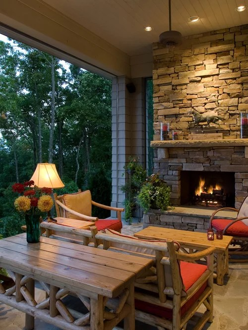 Rustic Porch Design Ideas, Remodels & Photos | Houzz