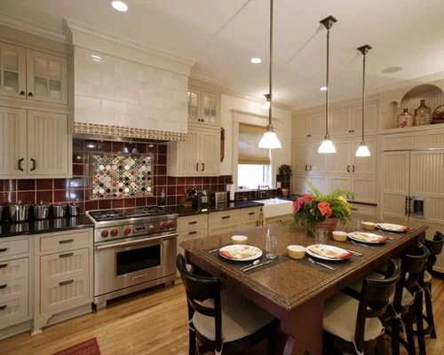 Custom Kitchen Island Cost Burgundy Tile Ideas, Pictures, Remodel And Decor