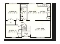 Need to have wall to divide living room from staircase to ...