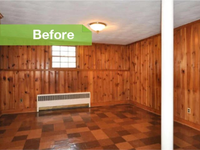 Knotty To Nice Painted Wood Paneling Lightens A Room39s Look
