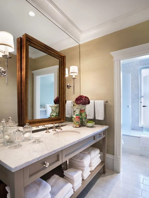 Bathroom Mirror Extension Arm Layered Mirrors Houzz