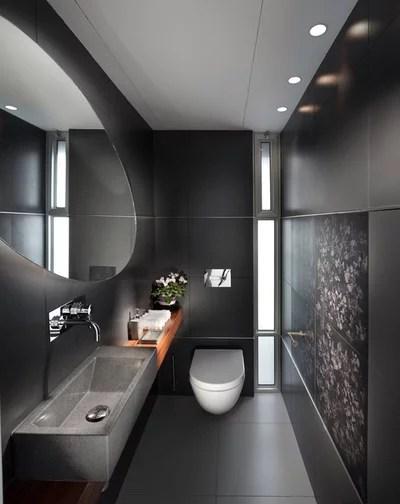 Ein schwarzes Bad zieht uns in seinen Bann - badezimmer egal wo