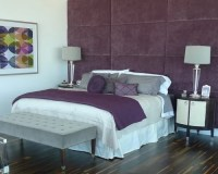 Purple Grey Bedroom | Houzz