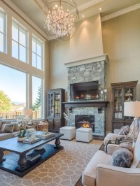 Living Room Design Ideas, Remodels & Photos with a Wall
