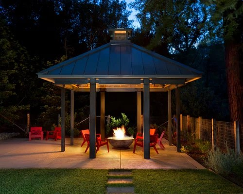 Covered Fire Pit Home Design Ideas Pictures Remodel And