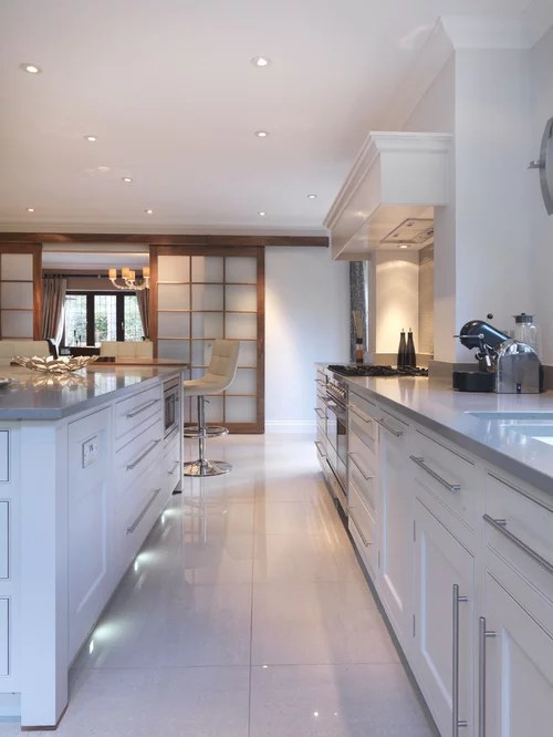U Shaped Kitchen Design With Island Caesarstone Oyster Ideas, Pictures, Remodel And Decor