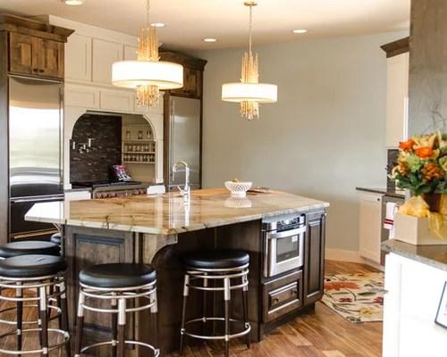 transitional single wall kitchen design ideas renovations photos inspiration small transitional single wall eat kitchen
