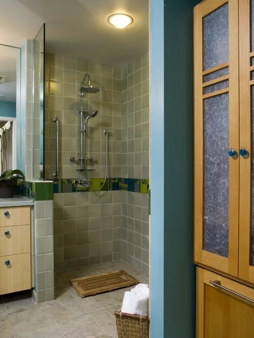 Walk In Doorless Showers For Small Bathrooms Home Design Ideas Renovations Photos
