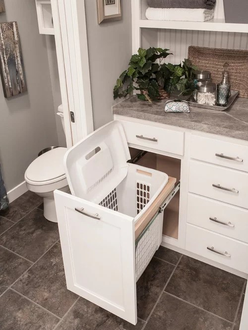 Ikea Clothes Hamper Built-in Laundry Hamper | Houzz