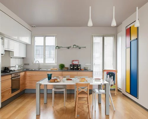 contemporary shaped kitchen design ideas remodels photos small contemporary shaped eat kitchen idea moscow flat