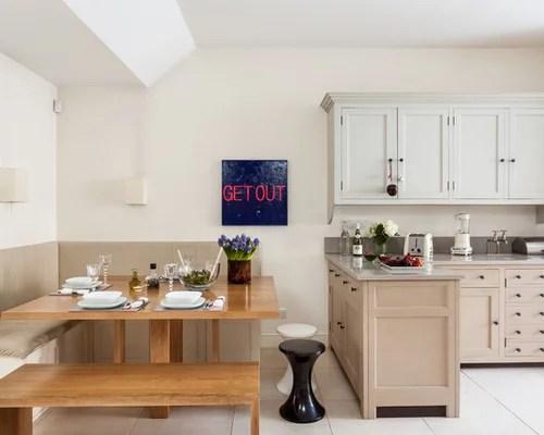 traditional eat kitchen idea london shaker cabinets beige small eat kitchen design photos cork floors